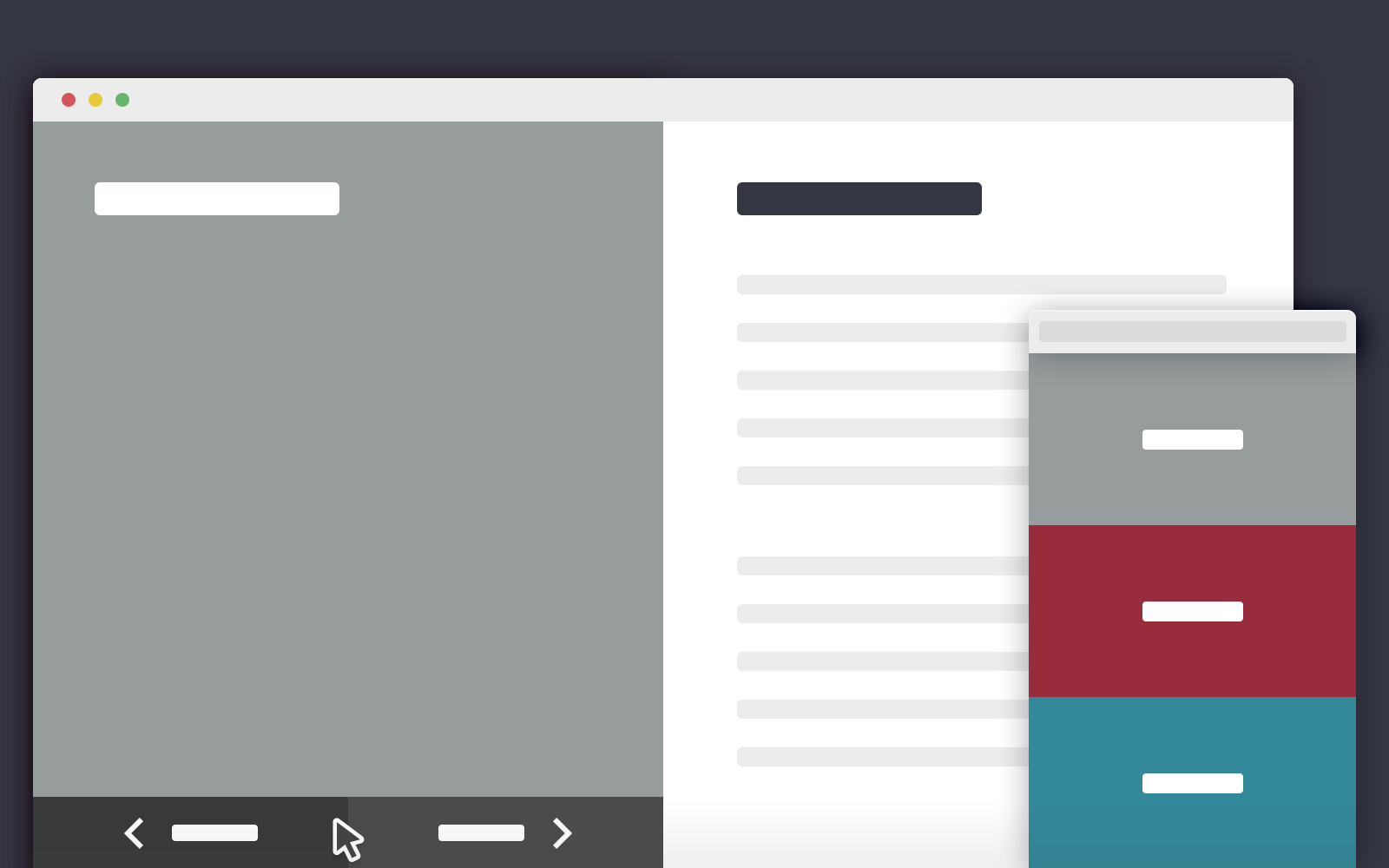 2 Blocks Template in CSS and jQuery | CodyHouse
