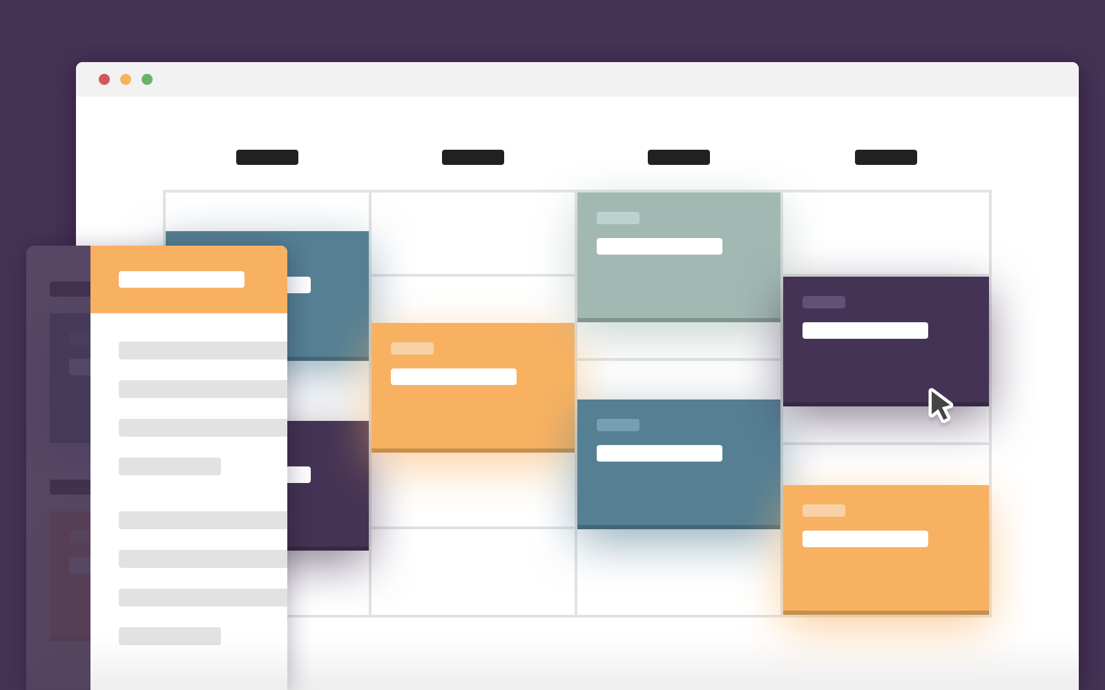 roster timetable template - schedule template in css and jquery codyhouse