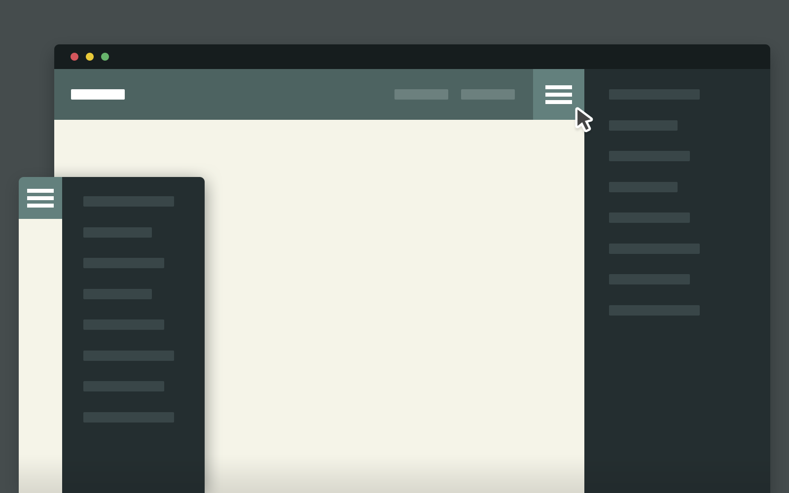 CSS and jQuery Secondary Expandable Menu | CodyHouse