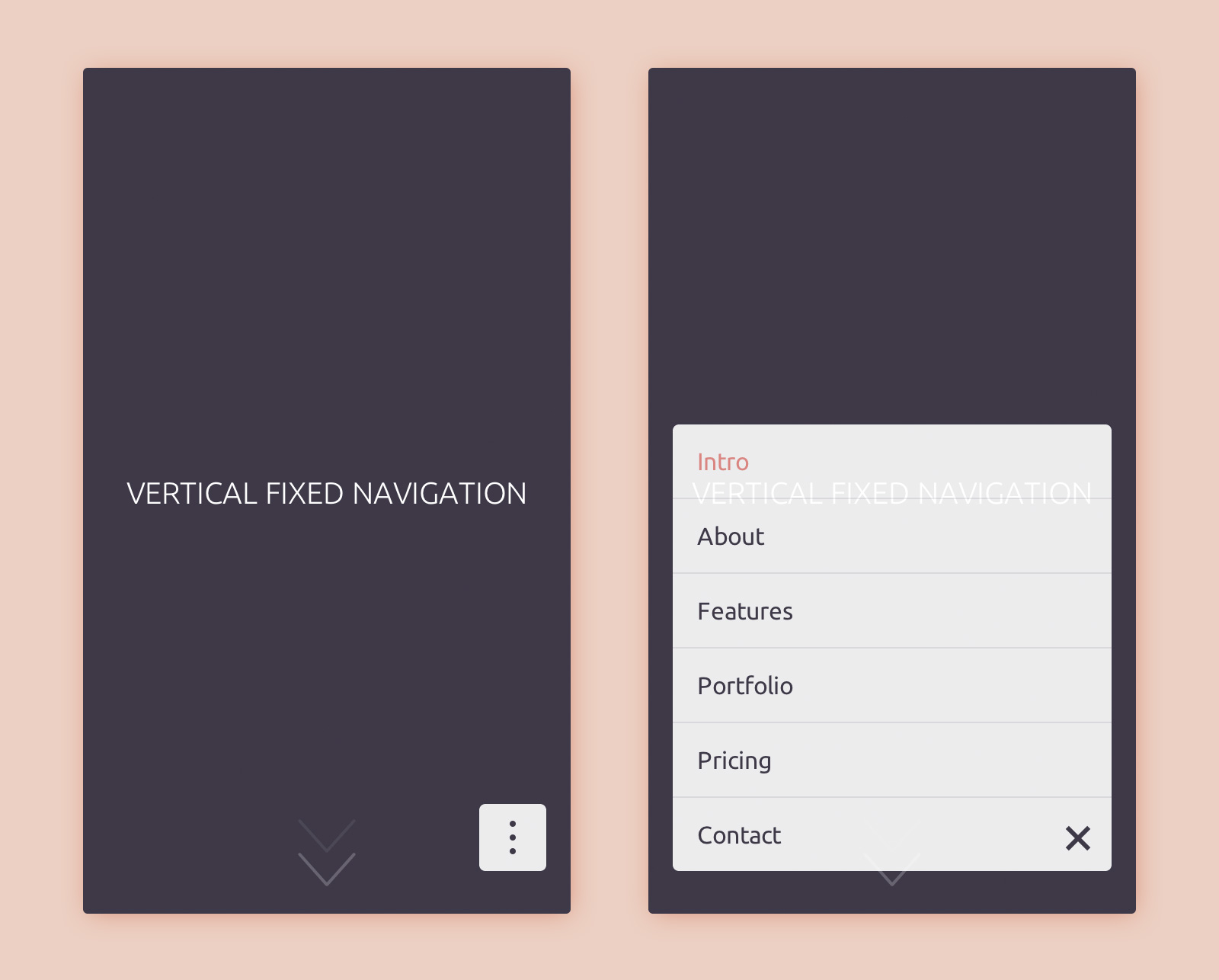 CSS and jQuery Vertical Fixed Navigation | CodyHouse