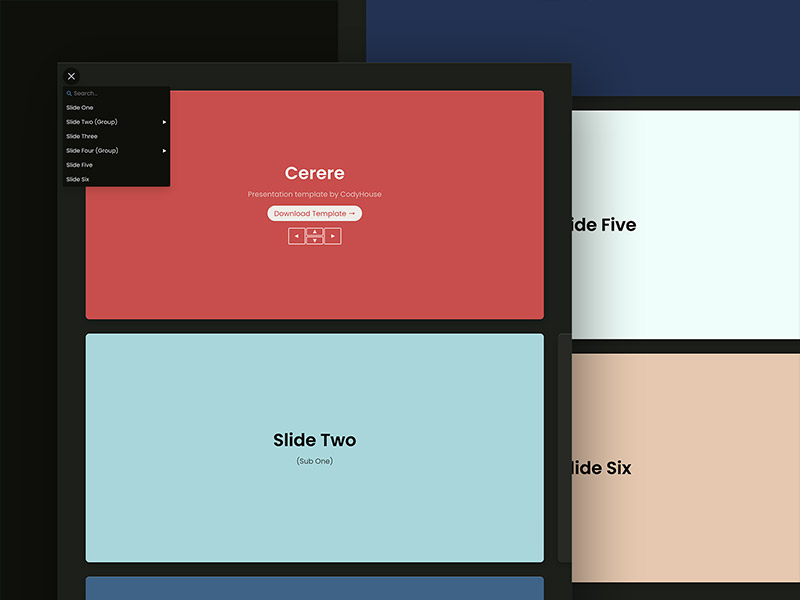 Cerere - HTML, CSS, JS Template