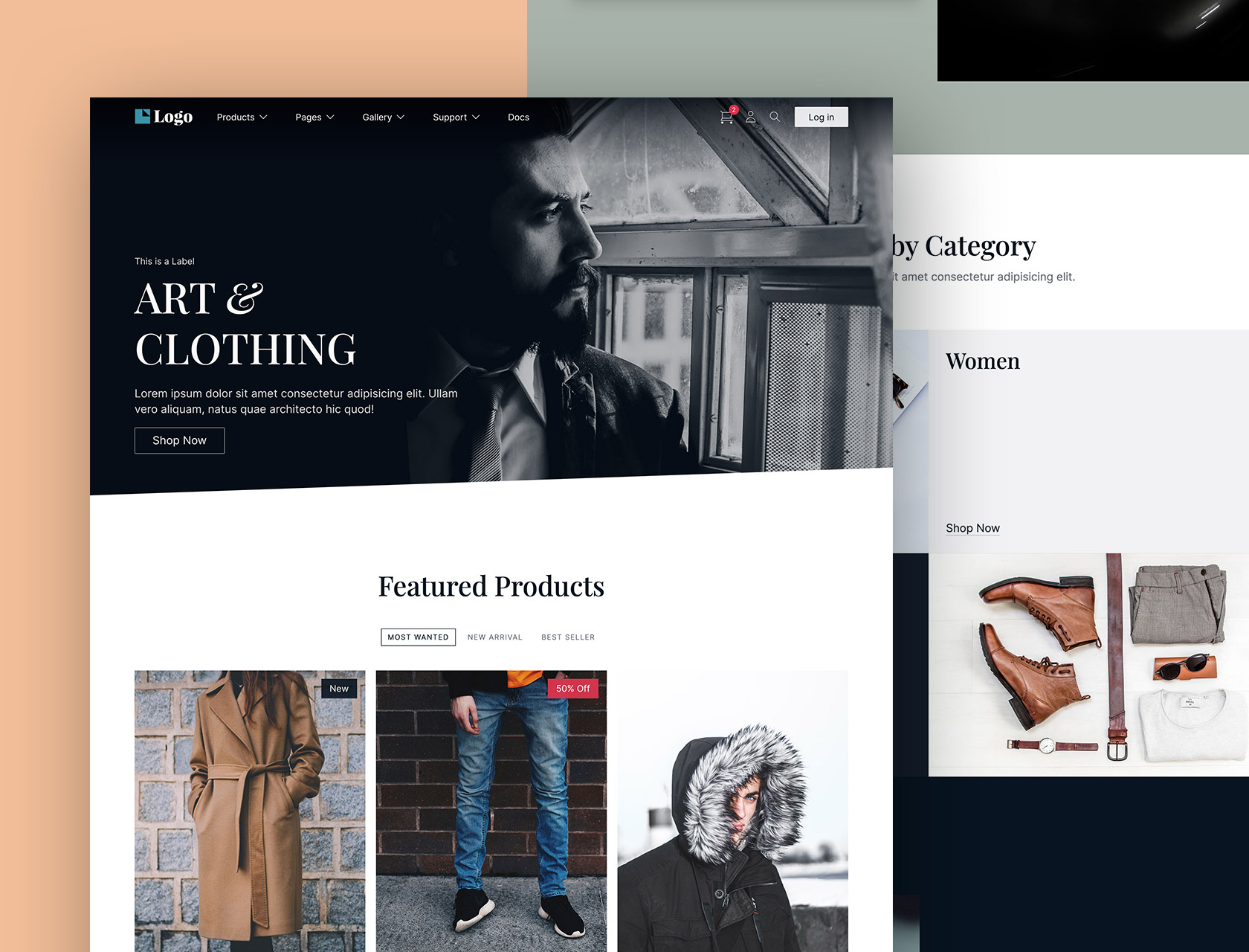 Mercurio - A premium HTML, CSS, JS, Ecommerce template including 90 components and 28 pages.