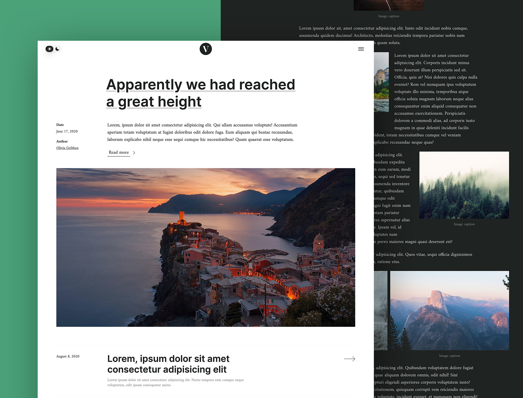 Venere - A premium HTML, CSS, JS, Blog template including 37 components and 15 pages.